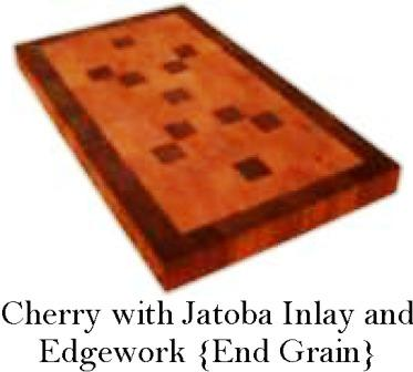 Cherry and Jatoba custom wood countertop