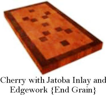 Cherry and Jatoba custom wood countertop