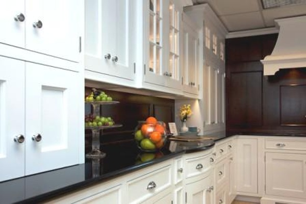 Transitional white inset cabinets