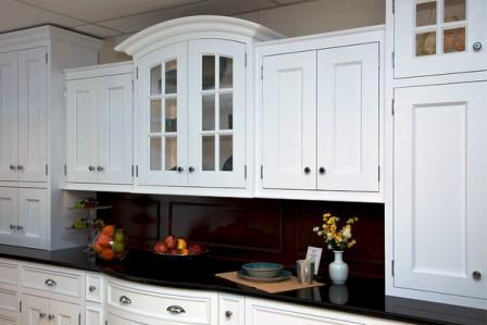 White painted inset kitchen cabinetry