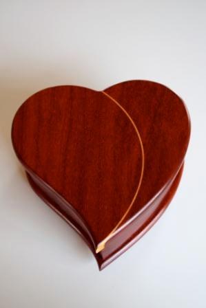 Paduak Hardwood Custom Made Jewelry Box