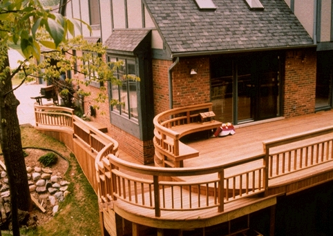 mataverde ipe deck with custom railings and benches
