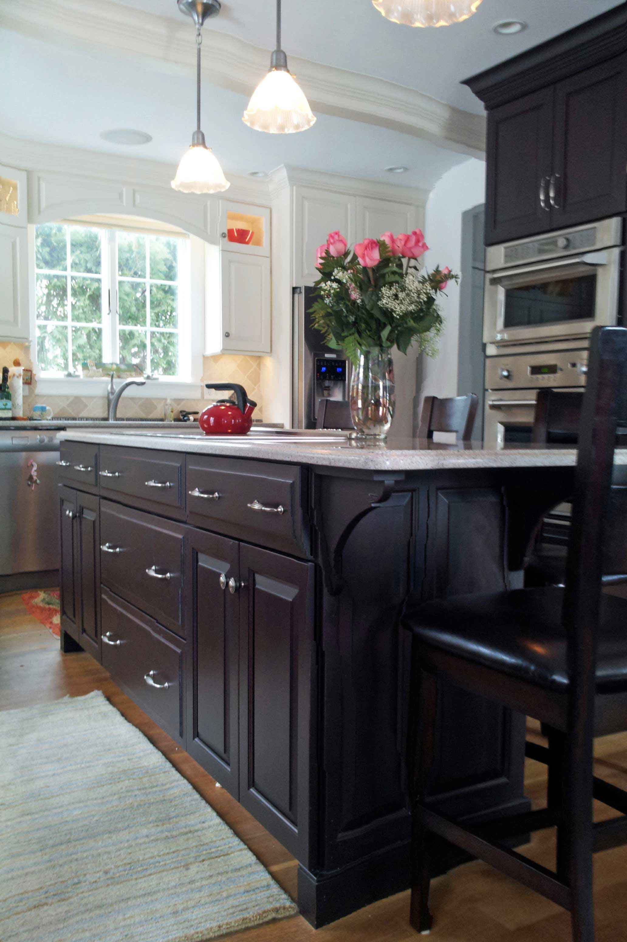 Beautiful raised panel kitchen island