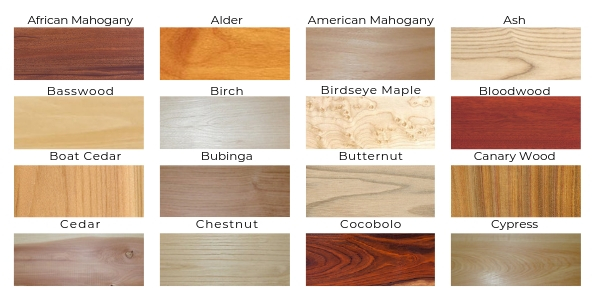 General Woodcraft Wood Species