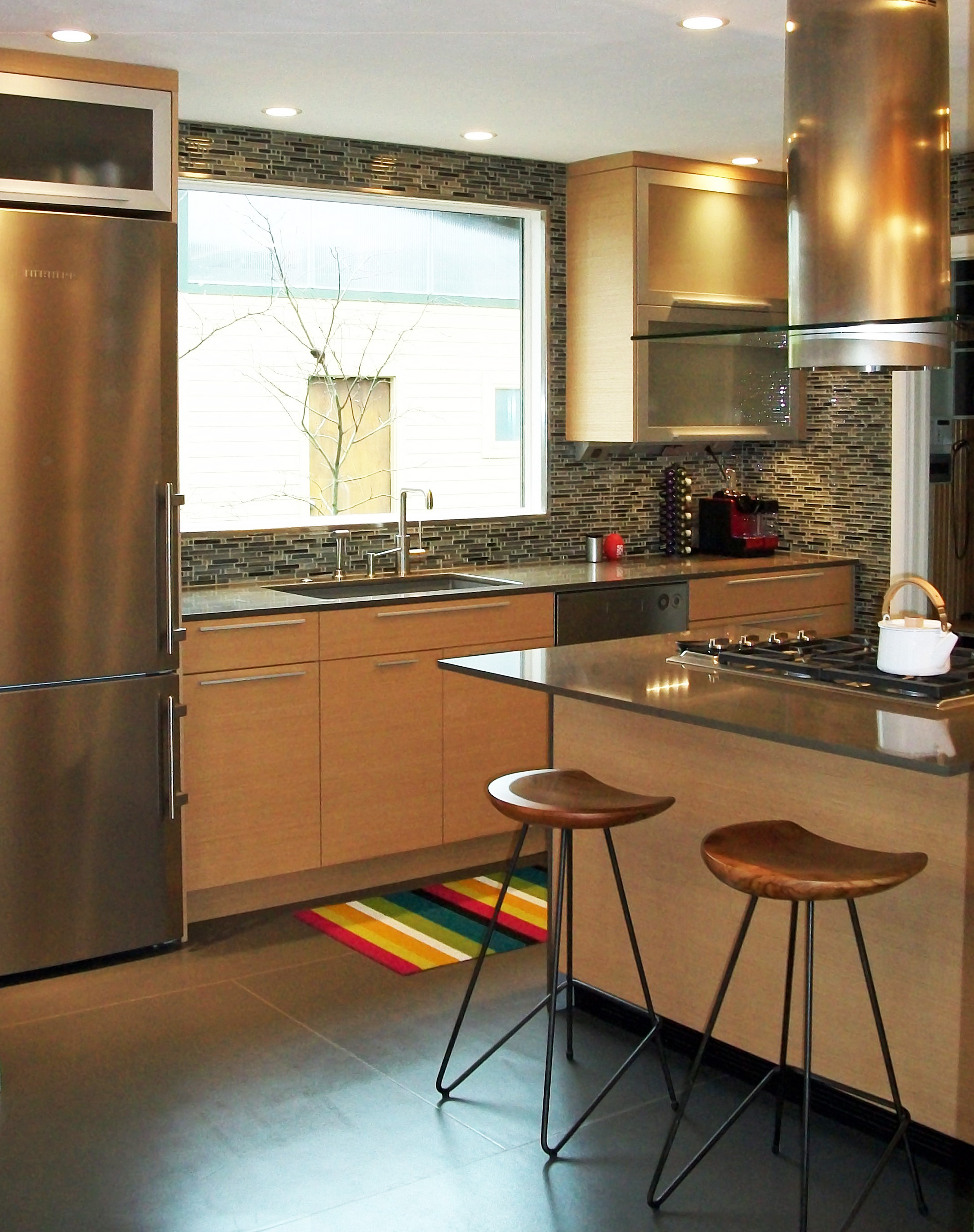 Eclectic custom kitchen by General Woodcraft Inc.