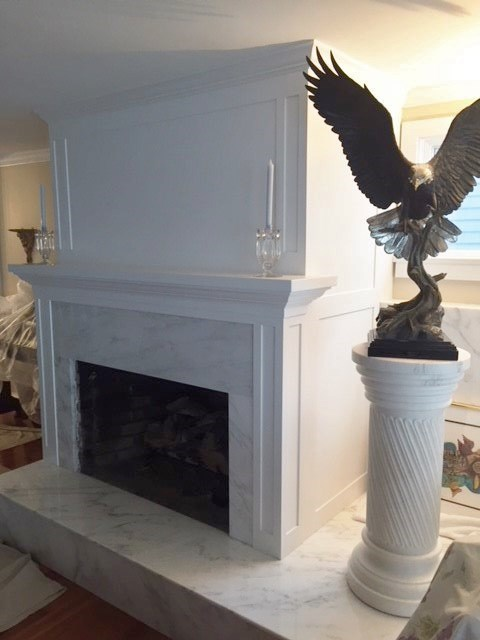 Custom fieplace surround, painted and installed