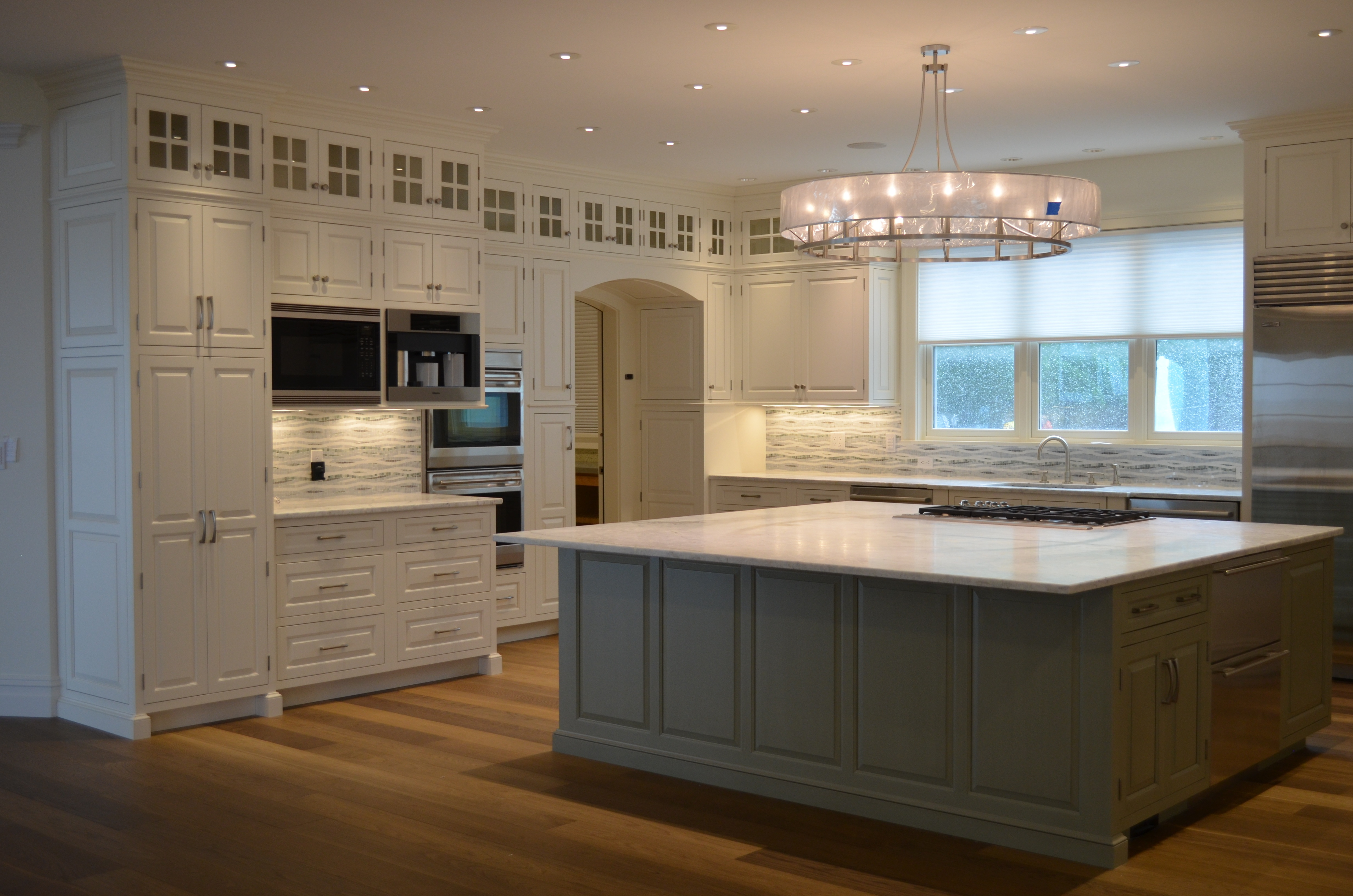 Transitional custom kitchen by General Woodcraft Inc