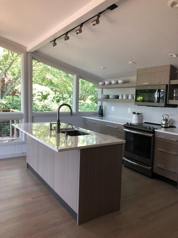 Custom kitchen signature flat panel cabinetry