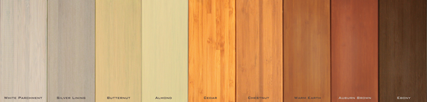 Bamboo panels may be stained a variety of colors to meet your design needs