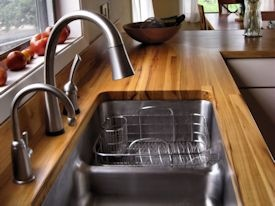 custom hardwood countertop