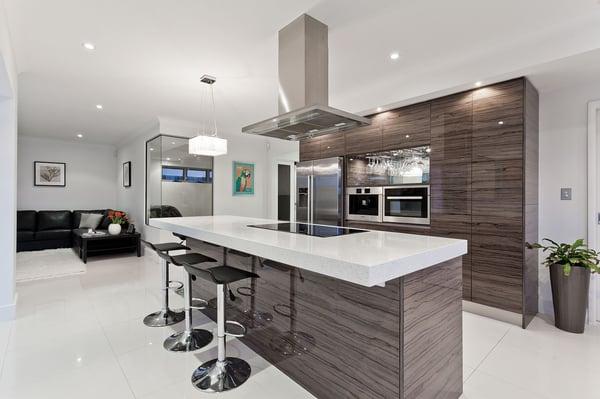 modern kitchen with neutral tones