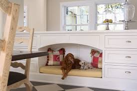 Custom Pet Bed and Kitchen Island by Cook Architectural via Houzz